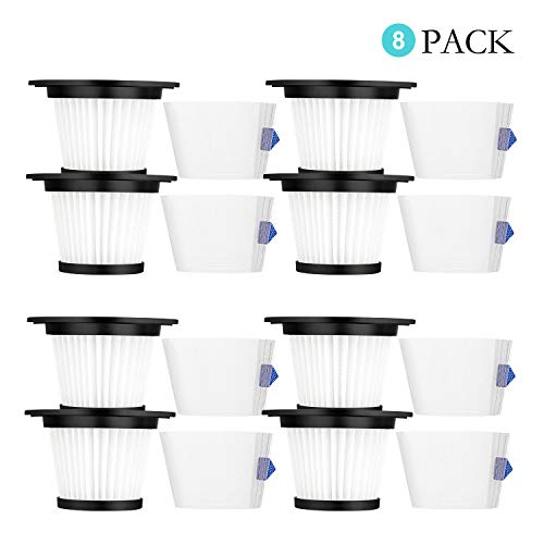 Cabiclean 8-Pack HEPA Filter and Strainer Screen Compatible for K17 Cordless Vacuum