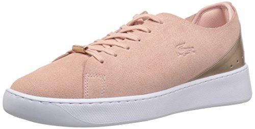 Lacoste Women's Eyyla Sneaker, Light Pink/Natural, 9 Medium US