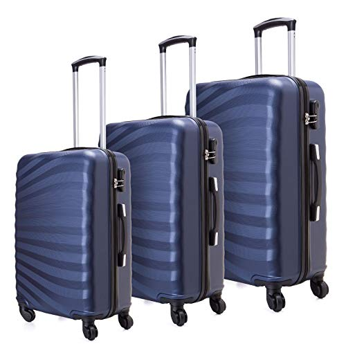Juego de maletas livianas con cáscara dura de 3 piezas (20...