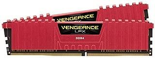 Corsair CMK16GX4M2A2133C13R Vengeance LPX 16GB (2x8GB) DDR4 DRAM 2133MHz (PC4-17000) C13 Memory Kit - Red