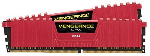 Corsair Vengeance LPX 16GB (2x8GB) DDR4 2133MHz C13 XMP 2.0 High Performance Desktop Arbeitsspeicher Kit, Rot