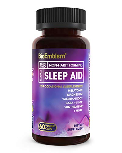 BioEmblem Natural Sleep Aid for Adults with...