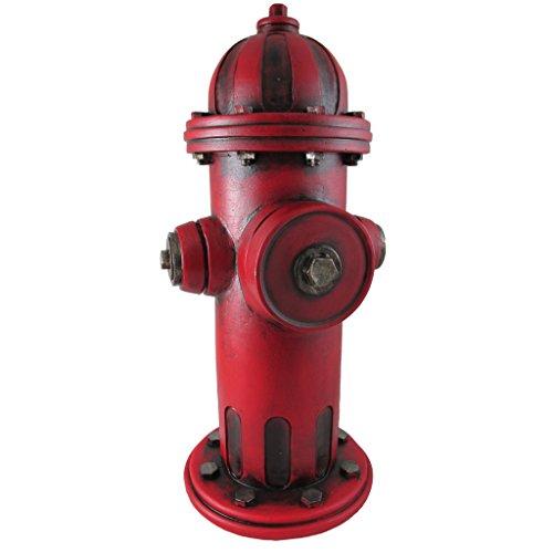 Pine Ridge Mini Replica Fire Hydrant for Dogs, 14 inch Outdoor Garden Statue, Yard Decoration, Lawn Ornament