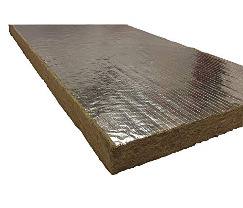 Roxul 1' x 48' x 24' Mineral Wool/Foil Backing High Temperature Insulation, Density 8#, Green - 40260 Pack of 2