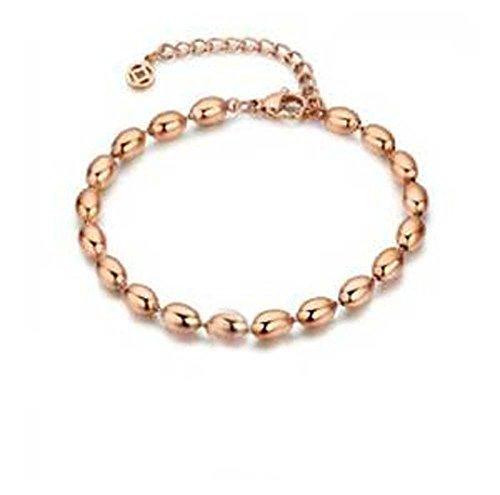 findout 14K placcato oro rosa titanio ali d' angelo braccialetto cavigliere (F1098)
