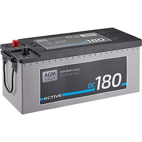 ECTIVE 180Ah 12V AGM Batterie DC 180 VRLA Versorgungsbatterie in 7 Varianten: 70Ah - 230 Ah (wartungsfrei)
