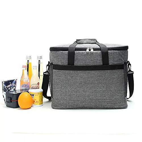 Bolsa enfriadora grande de 20 l reutilizable a prueba de fugas bolsa de almuerzo suave caja de picnic bolsa enfriadora para acampar al aire libre picnic barbacoa coche