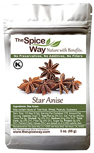 The Spice Way Star Anise - whole ( 3 oz ) great for baking and tea