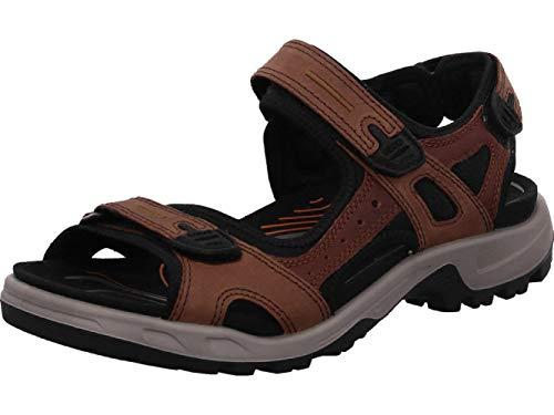 Ecco Men's Yucatan Outdoor Sandal, Espresso/Cocoa Brown/Black Nubuck, 44 EU (US Men's 10-10.5 M)