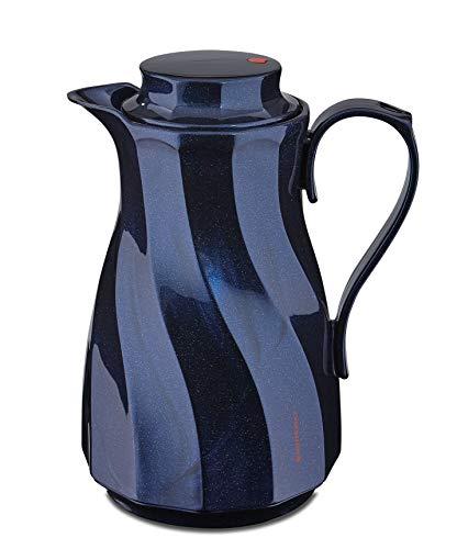 ROTPUNKT Isolierkanne 910 Theresia 1,0 l | Zweifunktions-Drehverschluss | BPA Frei- gesundes Trinken | Made in Germany | Warm + Kalthaltung | Glaseinsatz | Sparkling Nightsky