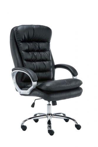 XXL Bürostuhl Vancouver Mit Kunstlederbezug I Drehstuhl Mit max. 235 KG Belastbarkeit I Chefsessel Mit Laufrollen, Farbe:schwarz