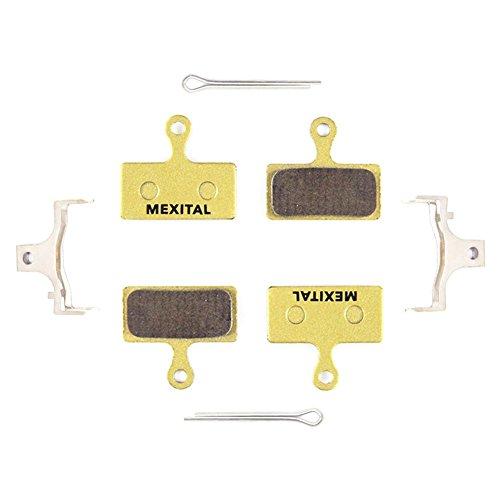 MEXITAL 2 Pares Pastillas Freno Disco sinterizado para Shimano Deore M610 M615 M6000 SLX M666 M675 M7000 XT M785 M8000 Saint BR M820 XTR M960 M985 M987 M988 M9000 Alfine BT S700 RS785 RS685