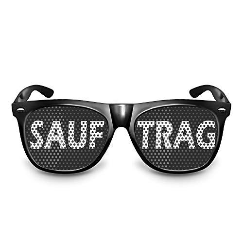 rotzevoll sauftrag Brille original Partybrille SAUFTRAG Primat Brille / Bonobo Sonnenbrille mit Motiv Mandrill Makake Ehrenprimat (SAUFTRAG)