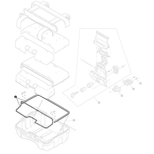 Givi Z2072R Kofferdichtung schwarz für TRK33/46N, 40
