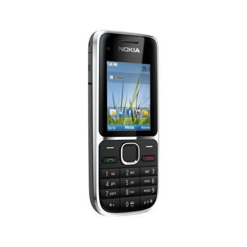 Nokia C2-01 Telefono Cellulare, Quad Band, Display da 2', Fotocamera da 3.2 MP, Nero [Italia]