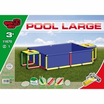 Quadro Pool L Schwimmbad, blau, 245x125x45cm