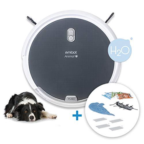 AMIBOT Animal Comfort H2O - Robots Aspirateurs et laveurs spécial Poils d'animaux