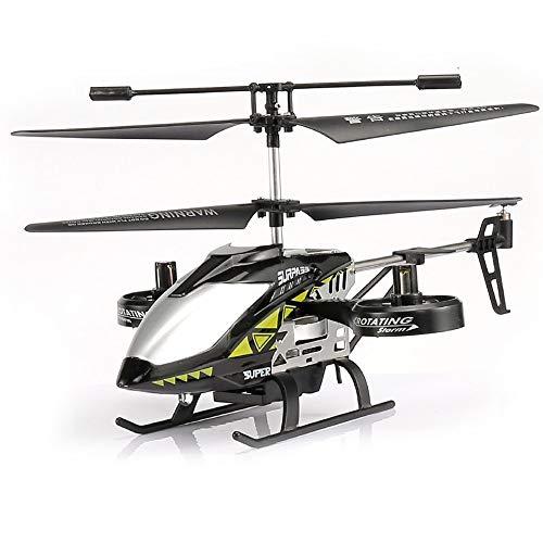 Logo Kinder Spielzeug RC Hubschrauber-Drohne Modell Spielzeug-Legierung Fernbedienung Boy Toy Aviation Modell RC Flugzeug Entwickelt for Novizen-Jungen-Mädchen-Spielzeug-Geschenk ( Color : Schwarz )