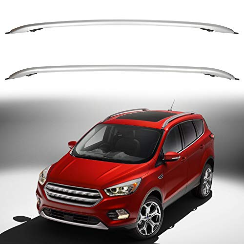 ECCPP Roof Rack Side Rails Luggage Cargo Carrier Roof Side Rails Fit for Ford Escape 2013 2014 2015 2016,Silver Aluminum Cross Rails