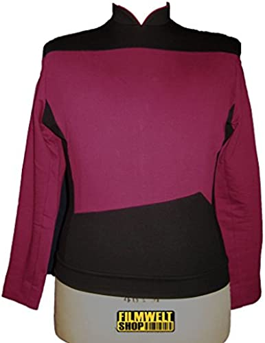 Unbekannt Star Trek Next Generation Uniform - Oberteil super deluxe Baumwolle (Large, rot)