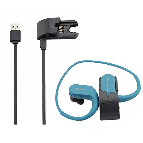 Gubest USB置き換えるクレードル充電器転送ケーブル For SONY NW-WS413 NW-WS414 NW-WS625 NW-WS623 ウォークマンヘッドフォン一体型用データ同期充電クリップ