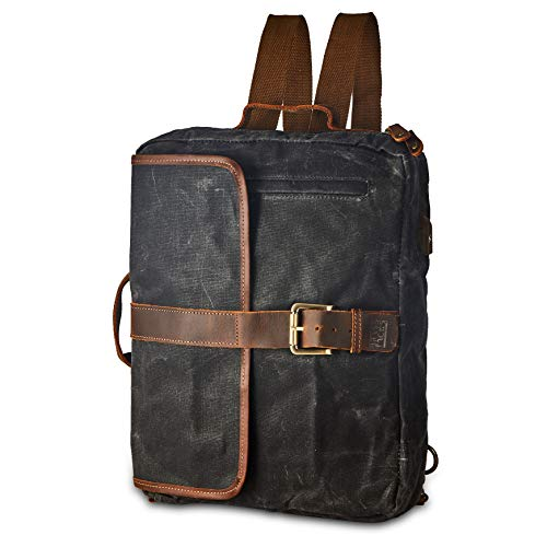(56% OFF Deal) Canvas Laptop Messenger Backpack Prime Day Special $49.99