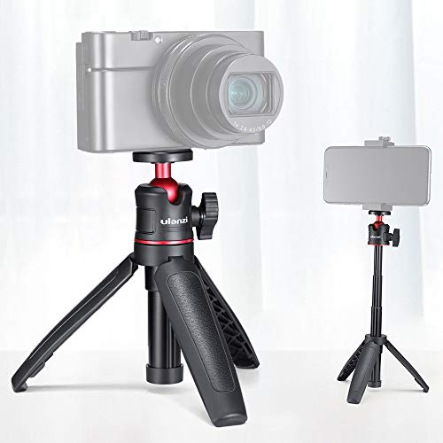ulanzi MT-08 Mini trípode de Escritorio Extensible Soporte de fotografía portátil con Cabezal de Bola Flexible Montaje de Tornillo de 1/4 de Pulgada para Selfie Travel Vlogging