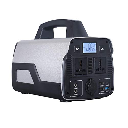 SARRVAD Portable Solar Powered Generator Sarrvad ST-500 (500W AC Output Peak Power 1000 Watt; Black & Silver) 6.6 kg; 2 DC Ports; 3 USB Ports & 1 C Type Lithium-ion Batteries
