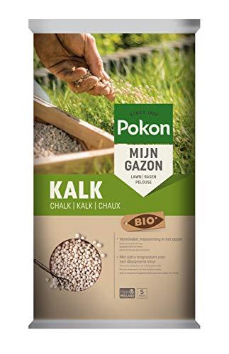 Pokon Bio Kalk, Granulat, Rasenkalk, Gartenkalk, natürlicher Kalkdünger, gekörnt, mit Magnesium, 5kg
