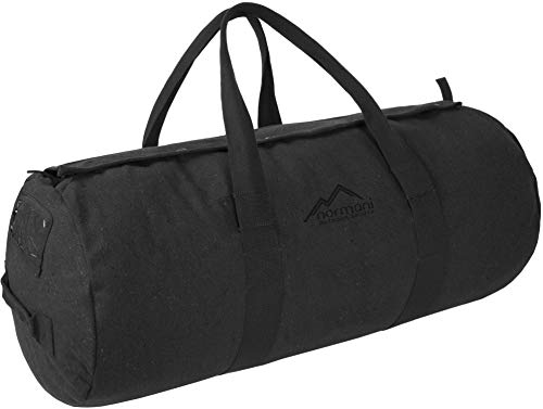normani Canvas Seesack Universal Tasche aus Reiner Baumwolle Farbe Anthrazit Größe 100L