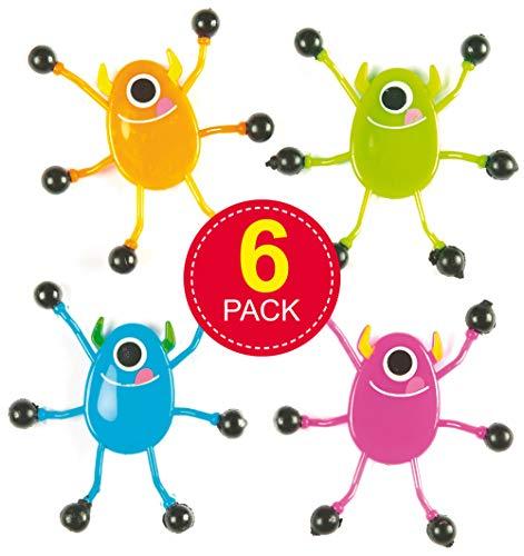 """Baker Ross Wandkrabbler """"Monster"""" mit 4 verschiedenen Motiven für Kinder als kleine Party-Überraschung (6 Stück)"""