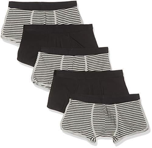 Marchio Amazon - find. Slip Uomo, Pacco da 3/Pacco da 5/Pacco da 7, Multicolore (Black & Grey Stripes/Balck), XXL, Label: XXL