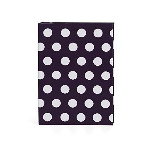 Hofmann | Albúm de fotos negro con lunares | 11,4 x 15,2 cm | Capacidad para 200 fotografías