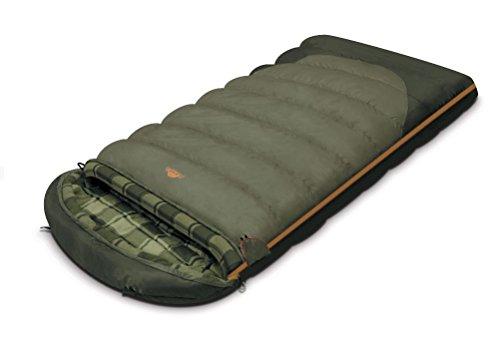 ALEXIKA Camping & Outdoor Schlafsack Canada, linke Reißverschluss Deckenschlafsacke, grau, 230 x 90 cm