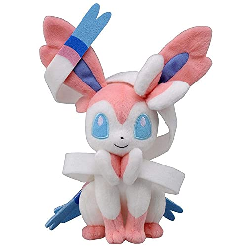 Anime Original 23Cm Pokemon Plush Toy Eevee Sylveon Plush Dolls Kawaii Cartoon Anime Stuffed Anniversaire Peluche Kids Toys Gift