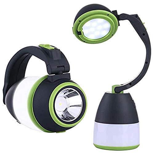 CaaWoo Lámpara de Camping,Linterna Cámping LED Recargable Linterna LED Portátil 4 en 1 Farol de Camping,3500 LM Impermeable Luz de Emergencia para Pesca, Emergencia, Senderismo, Trekking
