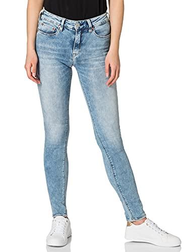 Herrlicher Damen Super G Slim Cashmere Touch Denim Jeans, Frozen 731, W28/L32