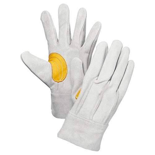背縫い革手(アテ付) ・黄色コンビアテ付 103Y