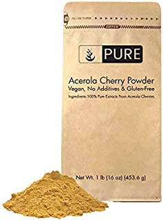 Acerola Cherry Powder (2 lbs, ½ TSP per Serving) by Pure, 100% Pure, Rich in Vitamin C & Immunity Boosting, All-Natural, G...