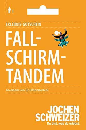 Jochen Schweizer Erlebnis-Gutschein Fallschirm-Tandem Sprung, mehr als 70 Veranstaltungsorte, Geschenkidee mit Adrenalin
