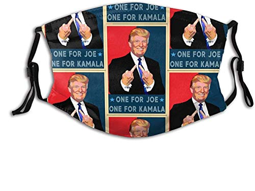 One for Joe One for Kamala - Fuck Biden Harris Face Mask for Women & Men Anti Filter Dust Adjustable Reusable Cloth Washable-Black-1 PCS
