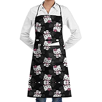 WOMFUI Aprons Water Oil Stain Resistant Cooking Aprons with Pockets for Men Women