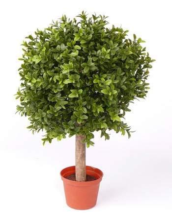 artplants.de Künstliche Buchskugel Tom auf Stamm, 252 Blätter, 35cm, Ø 25cm - künstliche Buchsbaumkugel Buxkugel Buchsbaum