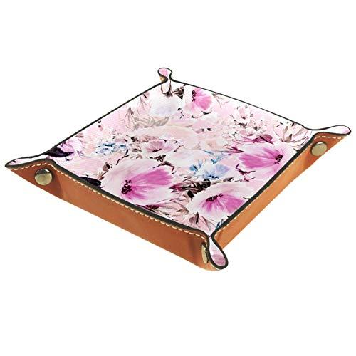 MUMIMI Caja de almacenamiento de joyería para anillos, pendientes, joyería y anillos, vintage, diseño de flores retro