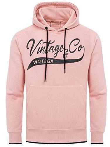 WOTEGA Herren Kapuzenpullover pinkes Hoodie WT Star - Winter Pulli Hoodies - Pinker Maenner Sweater Sweatshirt Rosa, Pink (Mellow Rose 151515), M