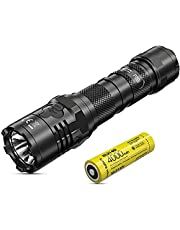 Nitecore P20i Tactical Flashlight - 1800 Lumens LED Torch USB C Rechargeable - Strobe READY IP68 Waterproof ([ 21700i Li-ion Battery Included ])