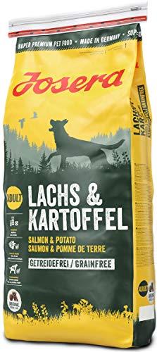 JOSERA Lachs & Kartoffel (1 x 15 kg) | getreidefreies Hundefutter | Lachs als einzige tierische Proteinquelle | Super Premium Trockenfutter für ausgewachsene Hunde | 1er Pack