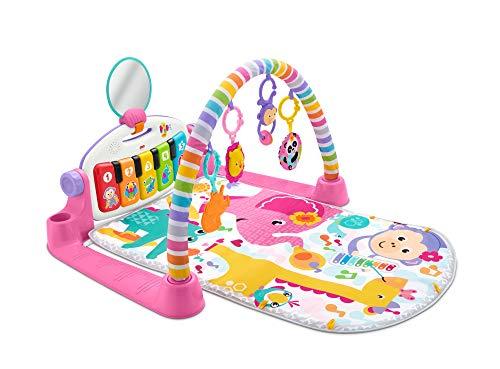 Mattel-FWT25 Gimnasio Piano Pataditas Manta de Juego en inglés para bebé recién Nacido, Multicolor (FWT25)
