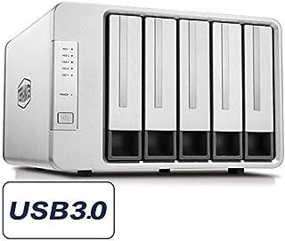 TERRAMASTER D5-300C USB 3.0 (5 Gbps) Tipo C Carcasa Raid de 5 Ranuras Soporte Raid 0/1/Single Modo Raid 2+3 Exclusivo Almacenamiento de Disco Duro Raid (Sin Disco)