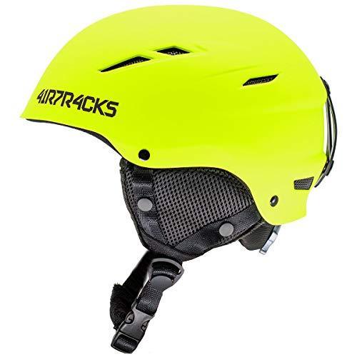 AIRTRACKS Master Ski/Snowboard Helm met Ventilatiesysteem en Continue Aanpassing/Ski Snowboarden Helm/Mat 5 x Kleuren om uit te kiezen